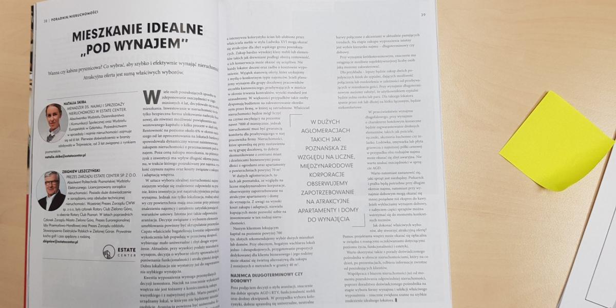 W ostatnim wydaniu Sukces po poznańsku Natalia Skiba i Zbigniew Leszczyński rozważają nad mieszkaniem idealnym do wynajęcia!