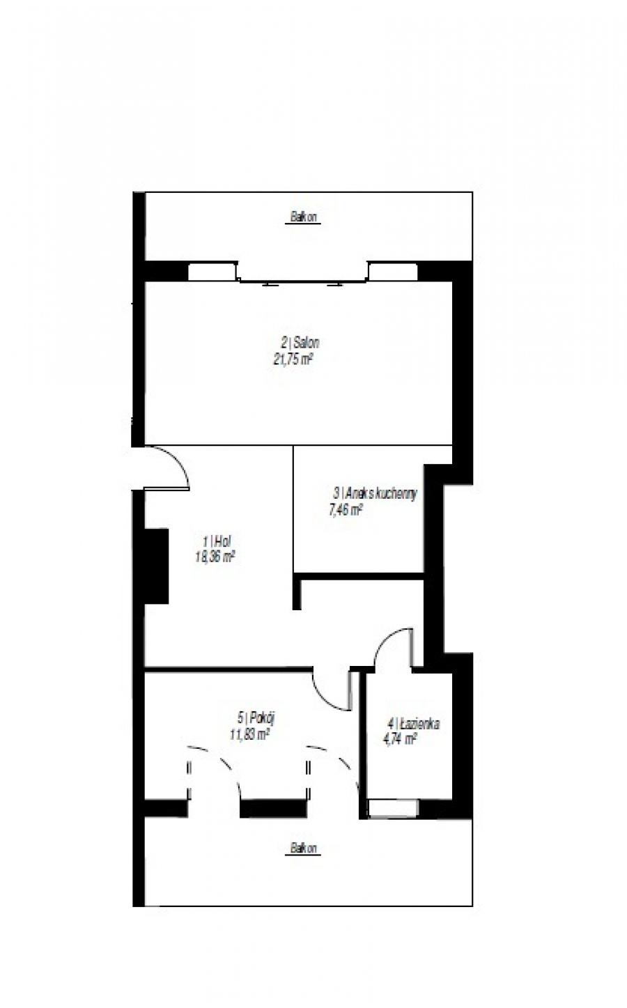 Mieszkanie 3-pokojowe Poznań-jeżyce 64 m<sup>2</sup>